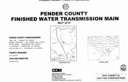 Pender County Finished Water Transmission Main; Pender County, NC.